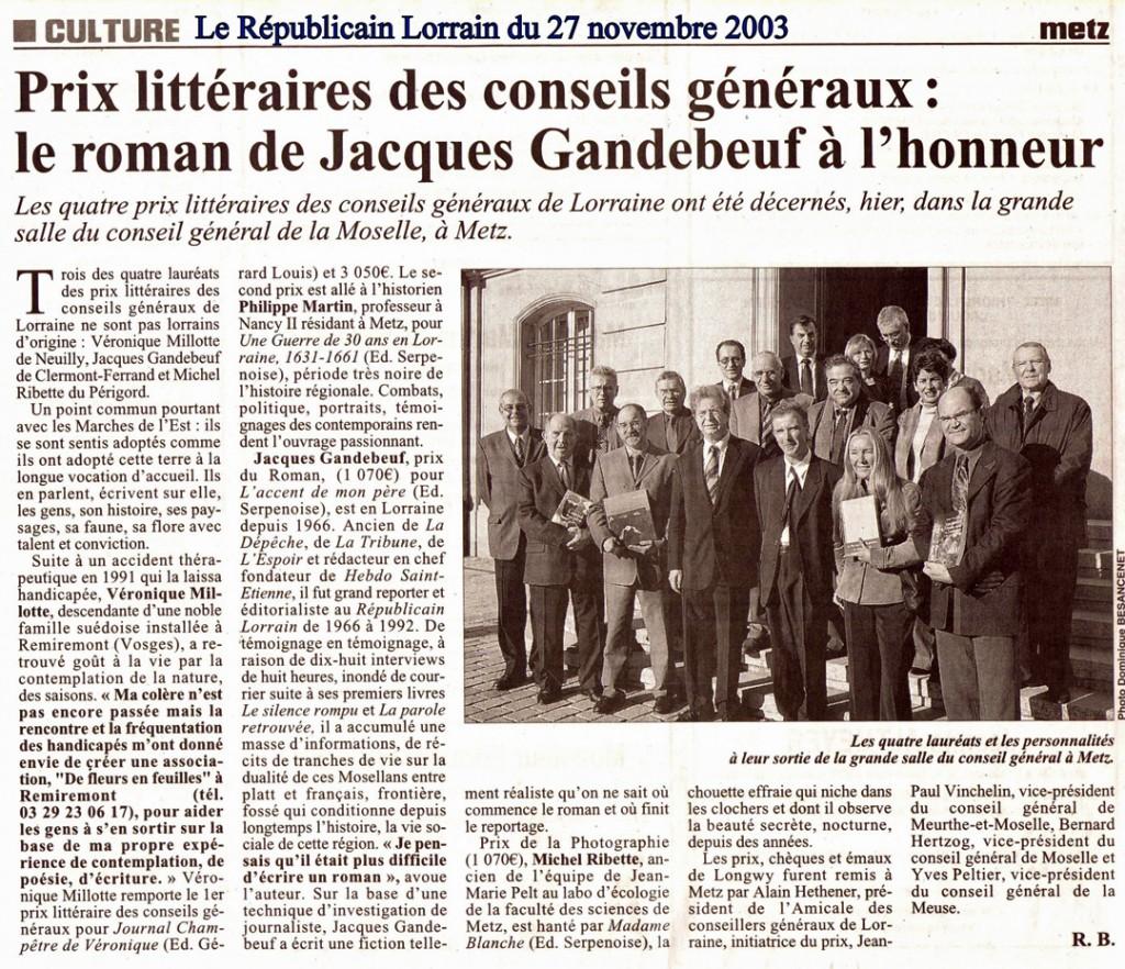 FF Presse 20031127