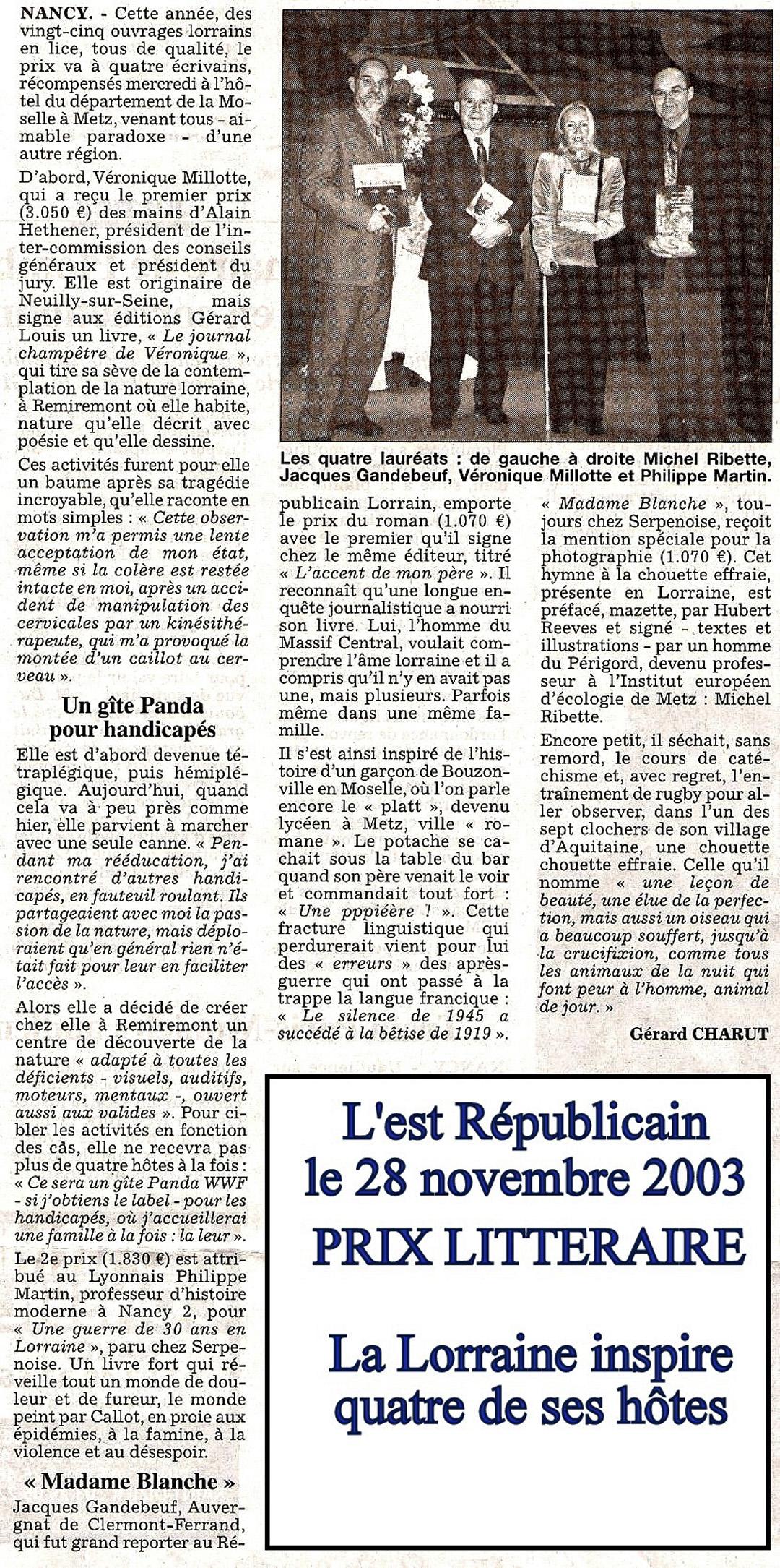FF Presse 20031128