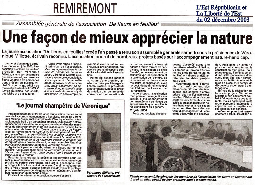 FF Presse 20031202