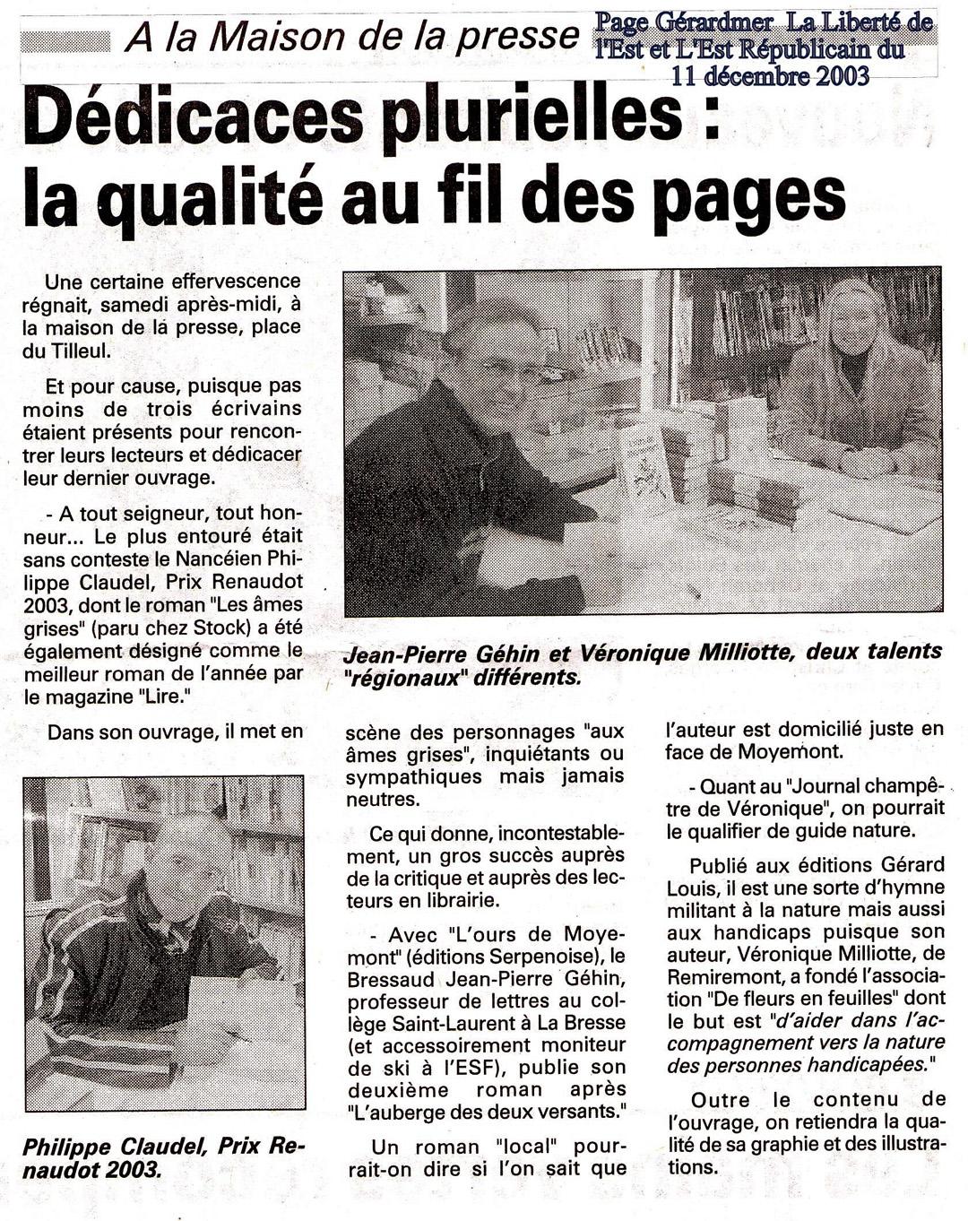 FF Presse 20031211